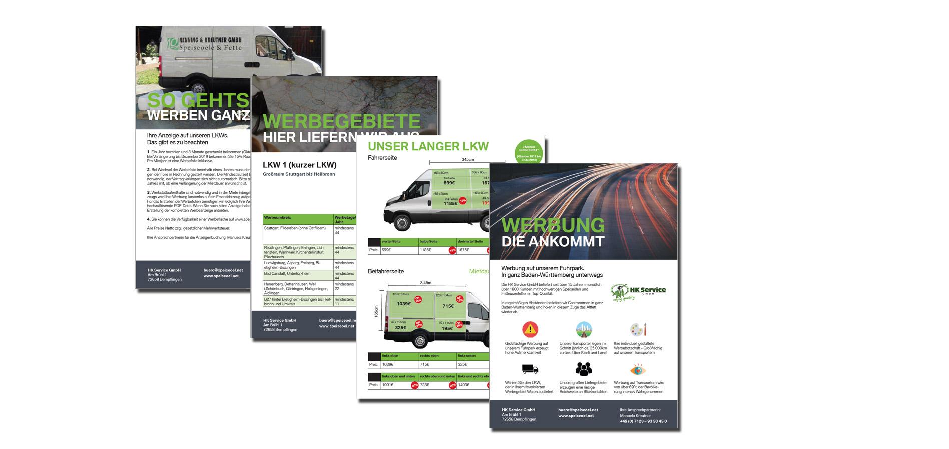 Werbeplanung & -design für die HKService GmbH