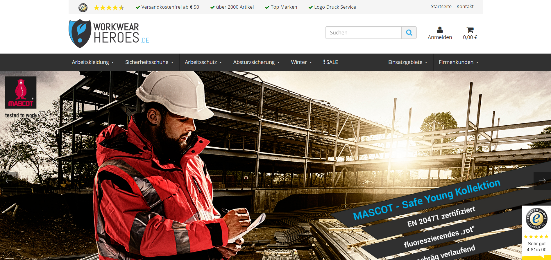 Webshop für workwear-heroes.de