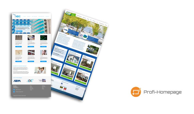 Website-Design Prototypen